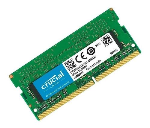 Memoria Ram Crucial Sodimm Ddr4 8gb 2666mhz Notebook Mac !!