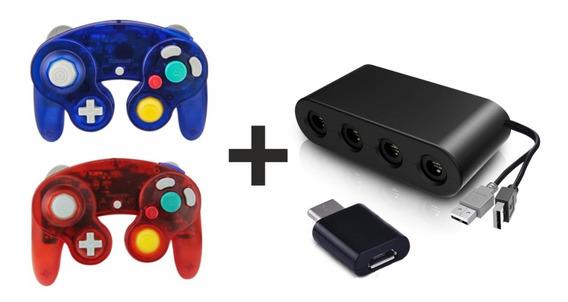 Adaptador Nintendo Switch Gamecube 2 Controles Game Cube