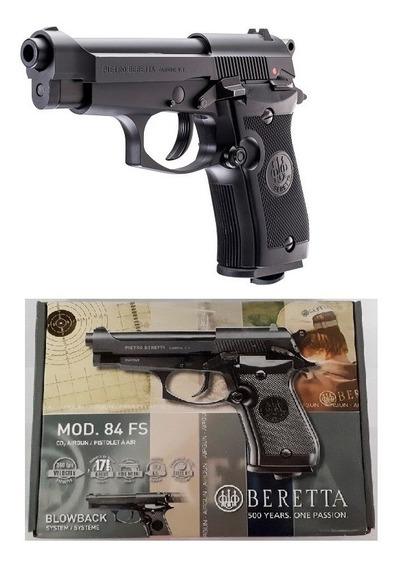 Pistola Pietro Beretta 84fs Co2 Gratis Full Metal 4.5mm