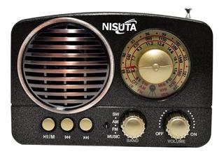 Radio Portátil Bluetooth Vintage Retro Recargable Usb