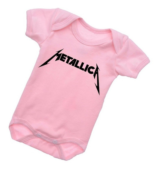 Body Bebê Metallica Rock Internacional Roupinha Baby B073rb