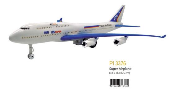 Avião Brinquedo Plastico Fricção Pica Pau Pronta Entrega