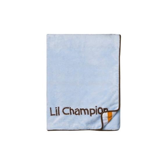 Bacati Mod Sports Blue Blanket