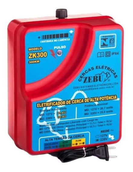 Eletrificador De Cerca Elétrica Rural Zebu Zk300 6.500m 220v