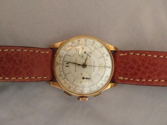 Relógio Cronografo Suiço Delbana Em Ouro