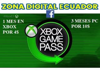 Xbox Game Pass 1 Mes, 3 Meses Para.pc Y Xbox One