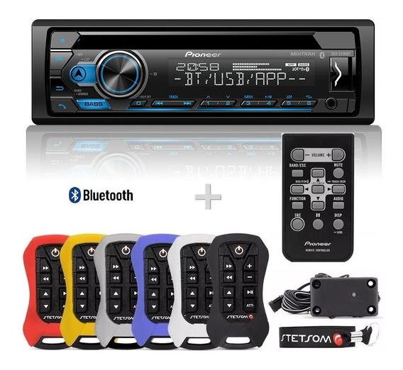 Cd Player Pioneer Deh-s4180bt + Controle Longa Distancia Stetsom Sx2 Light