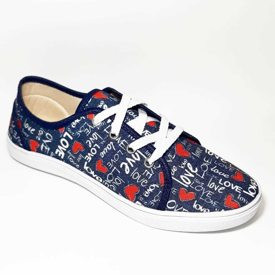 Tenis Casual Jeans Love Maricota