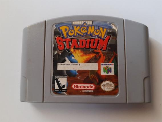 Pokémon Stadium Original N-64 E Funcionando 100% Perfeito