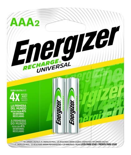 Imagen 1 de 6 de Blister 2 Pilas Recargables Energizer Aaa 700mah 1000x Nh12 - Importadora Fotografica - Distribuidor Oficial Energizer