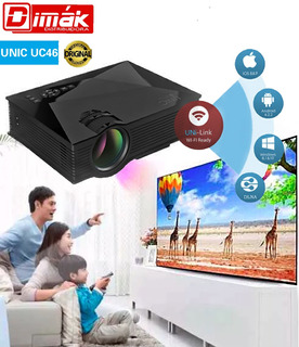 Mini Proyector Unic Uc46 Wifi, Full Hd 140¨, 1200 Lumenes!
