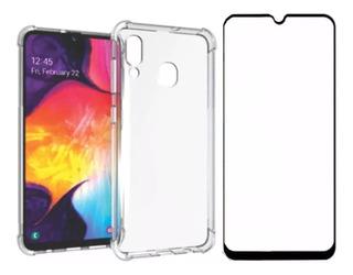 Capa Case Capinha Anti Shock + Pelicula 3d 5d 9d Galaxy A20