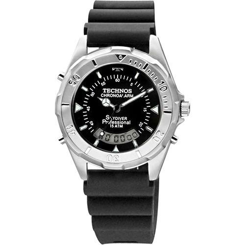 Relógio Technos Masculino Skydiver T20562/8p Preto