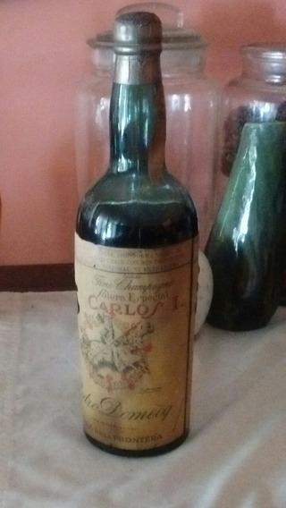 Antigua Botella Jerez De La Frontera Carlos I