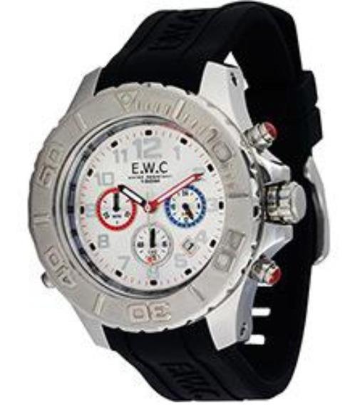Relógio Analógico Masculino Grande E.w.c Emt 14077-4 Oferta