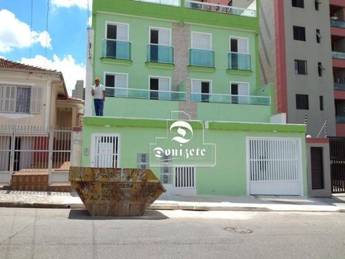 Cobertura Com 2 Dormitórios À Venda, 94 M² Por R$ 359.000,00 - Vila Assunção - Santo André/sp - Co11219