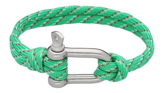 Pulsera Royal Flush Textil Cuerda Con Broche De Tornillo
