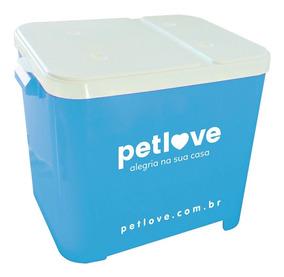 Porta-ração Petlove Para Armazenar Até 15 Kg - Azul Claro