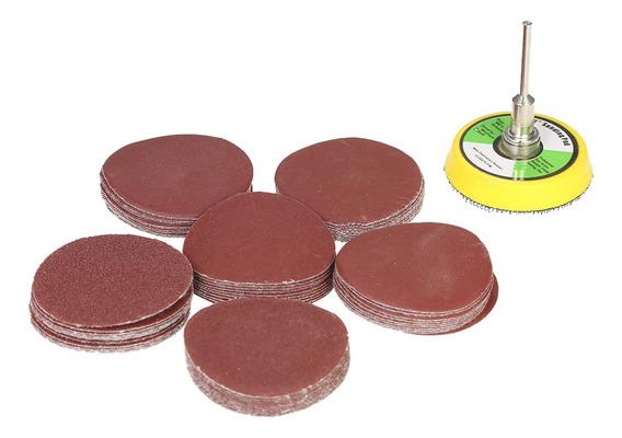 60pcs 50mm 2 Sander Disc Sanding Disk 100-2000 Grit Paper