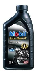 Óleo Mobil 4t Mineral 20w50 Motor Super Moto Preto Original.