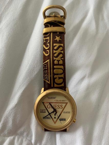 Relógio De Pulso, Guess, Dourado C Marron