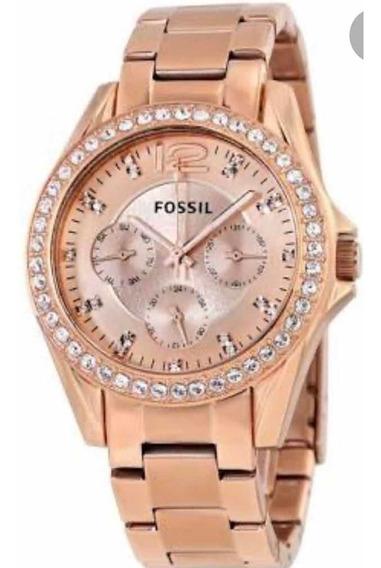 Lindo Relógio Feminino Fossil Es2811 Original Com Pedras