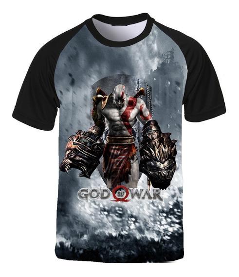Camiseta God Of War Kratos Guerra Deus Da Guerra Md08