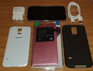 Samsung S5 Libre 16 Gigas Imoecable Con Accesorios