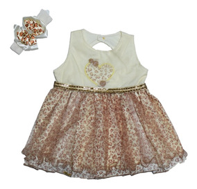 Vestido Menina Oncinha Princesa Com Tule E Strass