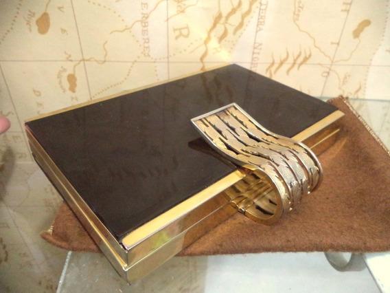 Porta Maquiagem Anos 60 Antigo-acrilico E Metal Banho Ouro