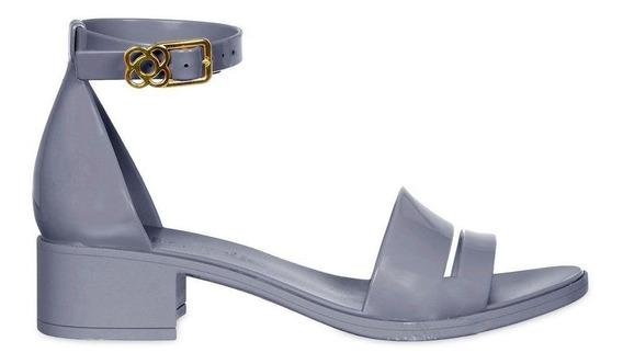 Sandália Core Petite Jolie Azul Pj4170 Salto Bloco