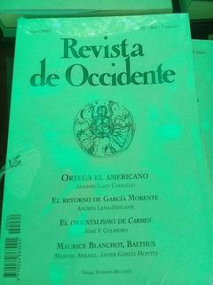 Revista Occidente Ortega Carballo Morente Blanchot Balthus