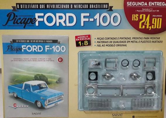 Pick Up Ford F-100 1:8 Edição Fasciculo 2 Salvat Picape