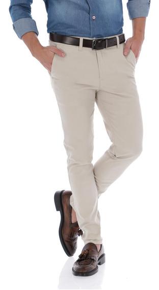 Pantalon Porto Blanco Gabardina Algodon Caqui