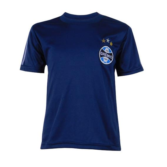 Camisa Do Grêmio Infantil Azul Marinho Dry Gremio Infan 4128