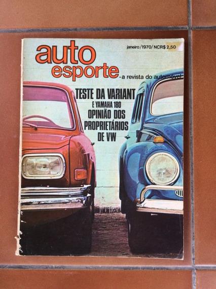 Revista Auto Esporte - Janeiro De 1970 - Frete Grátis