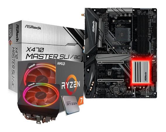Kit Processador Ryzen 7 2700x Asrock X470-sli Master Ac