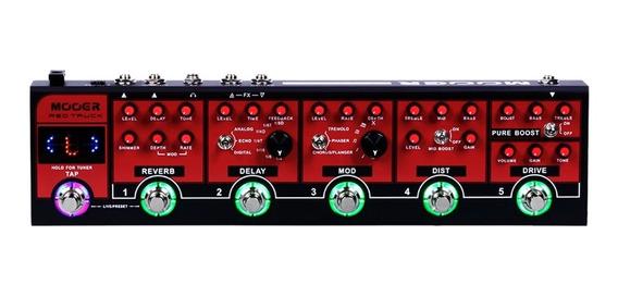 Pedaleira Mooer Multi Efeitos Red Truck P/ Guitarra Cpt1