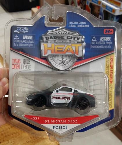 Jada Badge City Heat '03 Nissan 350z Police 1:64