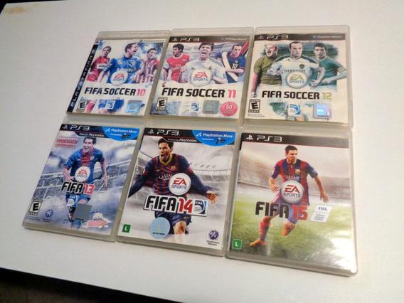 Ps3 Lote 6 Jogos Originais Fifa 10, 11, 12, 13, 14, 15