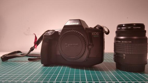 Câmera Filme Canon Eos 600 + Lente 36-78 F3.5-5.6