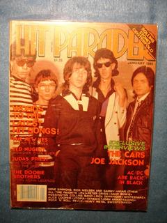 The Cars Whitesnake Poster Stones Revista Hit Parader Usa 81