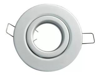 7 Spot Redondo Blanco Para Dicroica Led Listo Para Instalar