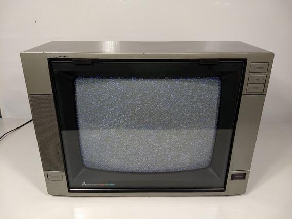 Antiga Tv Mitsubishi Tc-1441 Retro Game Pc 14 Polegadas
