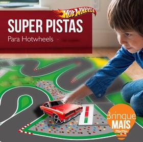 Hot Wheels Pista De Corrida Tapete De P Brincar Infantil Aut