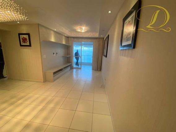 Apartamento De 02 Quartos, Sacada Gourmet De Frente Para O Mar A Área De Lazer Completa!!! - Ap3419