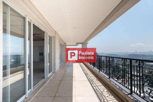 Apartamento Com 4 Suites E 5 Garagens À Venda, 400 M²  - Moema - São Paulo/sp - Ap24738