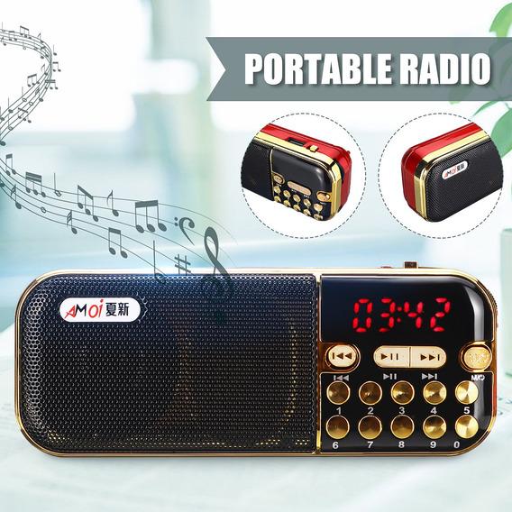 Mini Rádio Portátil Led Digital Fm Stereo Fm-radio Memória R
