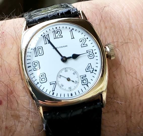 Relógio Militar De Trincheira War 1guerra Porcelana Waltham