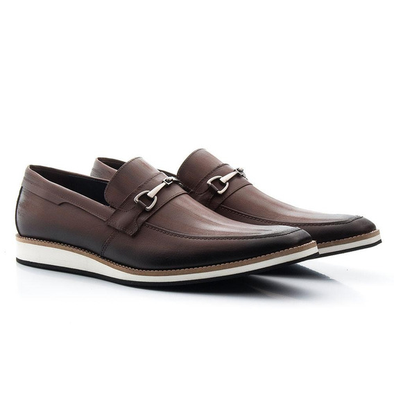 Sapato Casual Masculino Couro Confortável Leve Moderno Festa